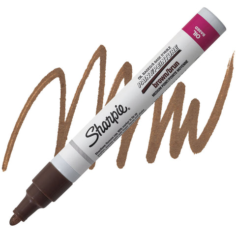SHARPIE: Medium Point Oil-based Paint Marker (Brown)