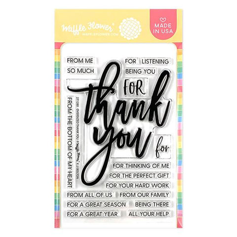 WAFFLE FLOWER: Oversized Thank You | Stamp