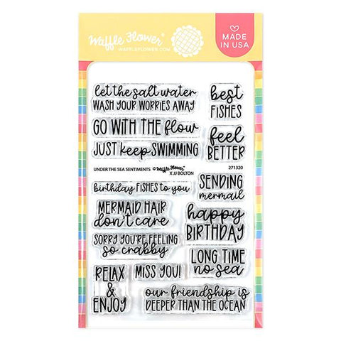 WAFFLE FLOWER: Under the Sea Sentiments | Stamp