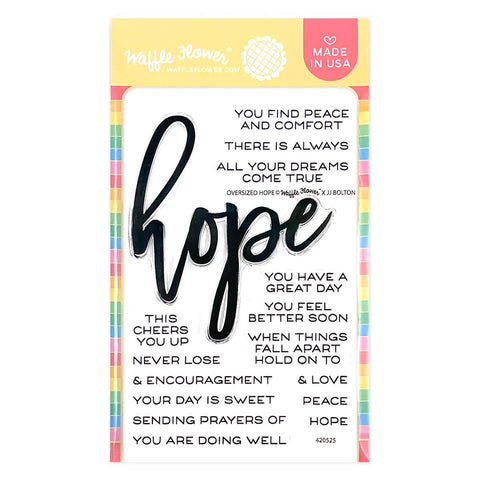 WAFFLE FLOWER: Oversized Hope | Stamp
