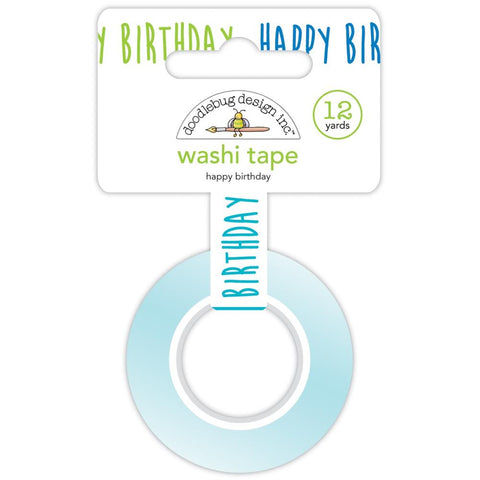 DOODLEBUG DESIGN: Washi Tape 15mm | Happy Birthday