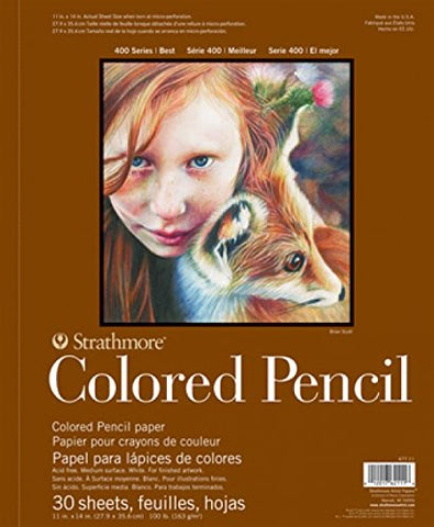 "STRATHMORE: Colored Pencil Paper Pad 400 Series 9""x12"""
