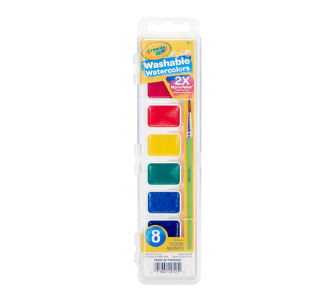 CRAYOLA: Washable Watercolors | 8 Colors