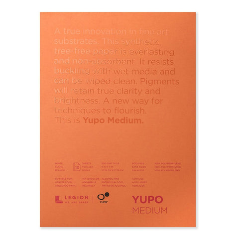 "LEGION PAPER: Yupo Medium Paper Pad 5"" x 7"""