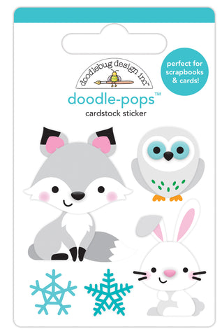 DOODLEBUG DESIGN: Doodle-Pops 3D Cardstock Sticker | Foxy & Friends