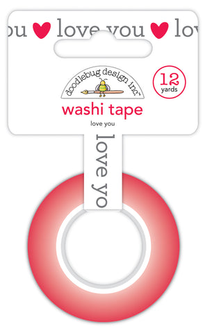 DOODLEBUG DESIGN: Washi Tape 15mm | Love You
