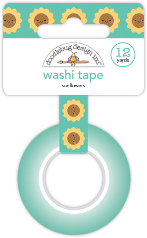 DOODLEBUG DESIGN: Washi Tape 15mm | Sunflowers