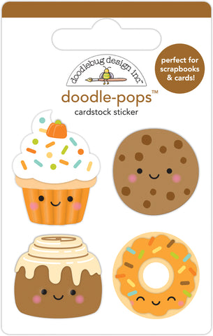 DOODLEBUG DESIGN: Doodle-Pops 3D Cardstock Sticker | Fall Treats