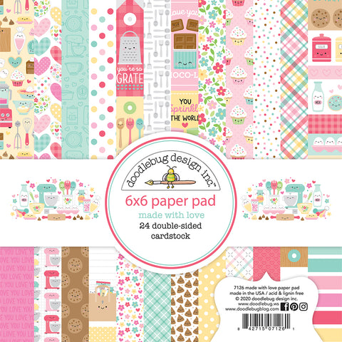 DOODLEBUG DESIGN: Made With Love | 6 x 6 Paper Pad