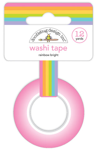 DOODLEBUG DESIGN: Washi Tape 15mm | Rainbow Bright
