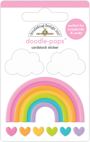 DOODLEBUG DESIGN: Doodle-Pops 3D Cardstock Sticker | Over the Rainbow