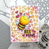 HONEY BEE STAMPS: Fluttering Hearts Pierced Cover Plate | Honey Cuts