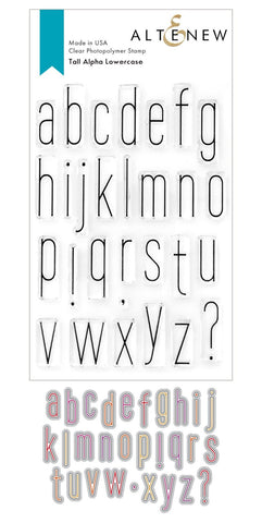 ALTENEW: Tall Alpha Lowercase | Stamp & Die Set