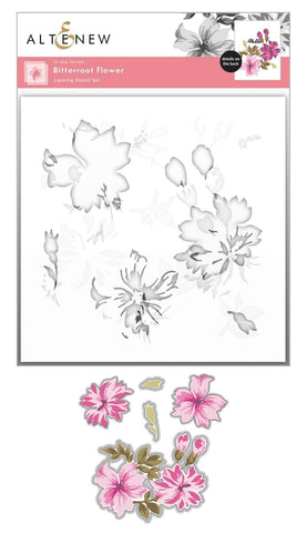 ALTENEW: Bitterroot Flower | Layering Stencil & Die Bundle