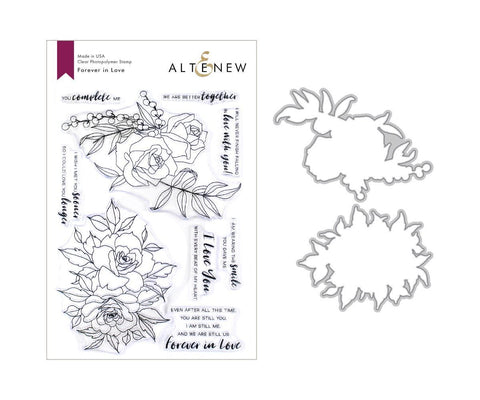 ALTENEW: Forever in Love Stamp and Die Set