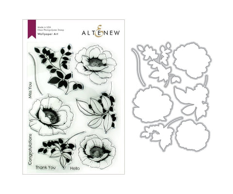 ALTENEW: Wallpaper Art Stamp & Die Set