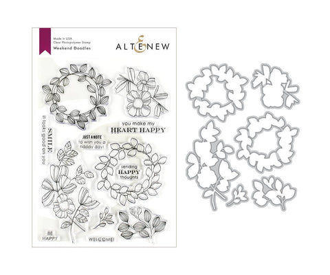ALTENEW: Weekend Doodles Stamp and Die Bundle