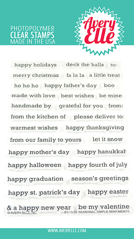 AVERY ELLE: Seasonal Simple Sentiments