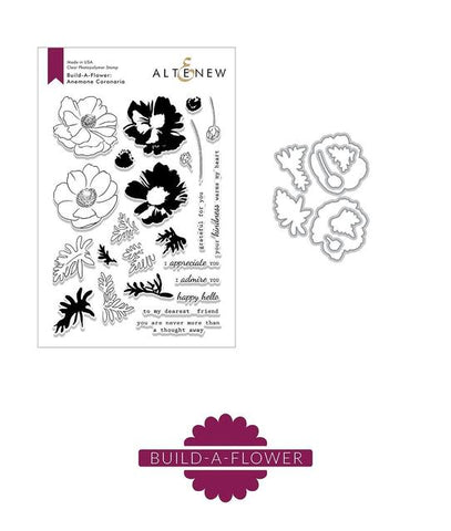 ALTENEW: Build-A-Flower: Anemone Coronaria | Stamp and Die Set