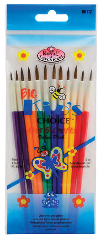 ROYAL LANGNICKEL: Big Kid's Choice Brushes | 12 Count