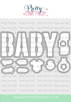 PRETTY PINK POSH:  Baby | Die Set
