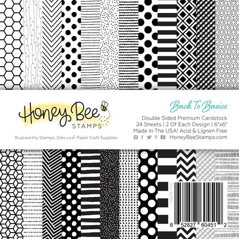 "HONEY BEE STAMPS: Back To Basics | 6"" x 6"" Paper Pad"