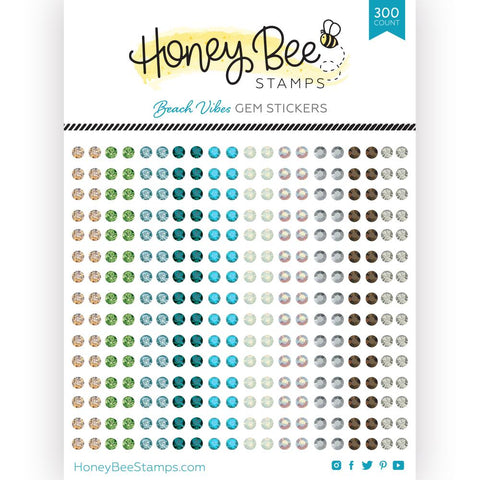 HONEY BEE STAMPS: Beach Vibes Gem Stickers | 300 Count