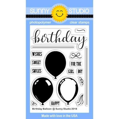SUNNY STUDIO: Birthday Balloon