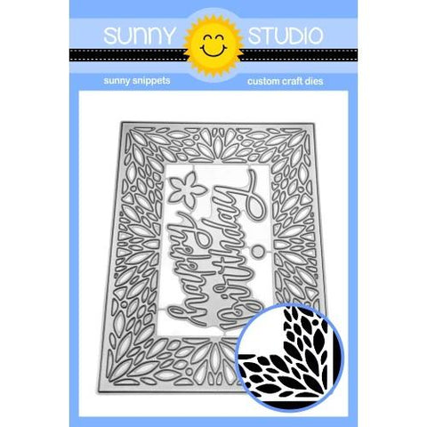 SUNNY STUDIO: Blooming Frame | Sunny Snippets