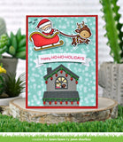 LAWN FAWN: Build a House Christmas Add-on Lawn Cuts Die