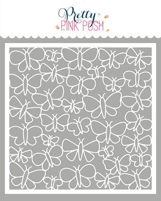 PRETTY PINK POSH:  Stencil | Butterfly Background