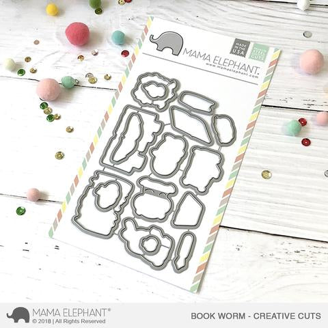 MAMA ELEPHANT: Book Worm Creative Cuts