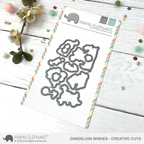 MAMA ELEPHANT: Dandelion Wishes Creative Cuts