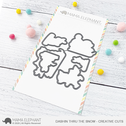MAMA ELEPHANT: Dashin' Thru the Snow | Creative Cuts