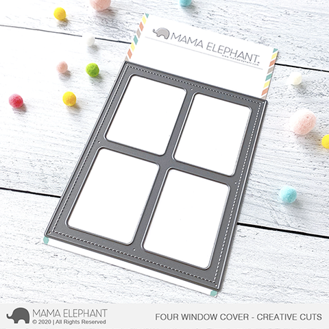 MAMA ELEPHANT: Four Window Cover | Creative Cuts