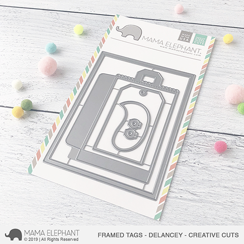 MAMA ELEPHANT: Framed Tags - Delancy Creative Cuts