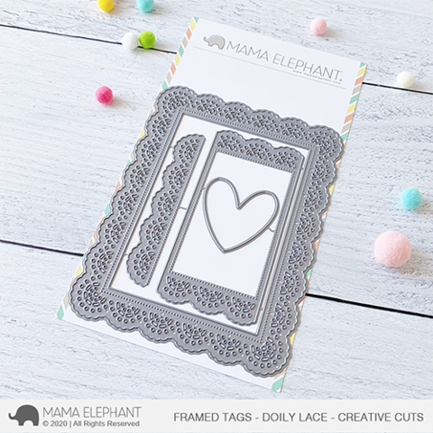 MAMA ELEPHANT: Framed Tags Doily Lace | Creative Cuts