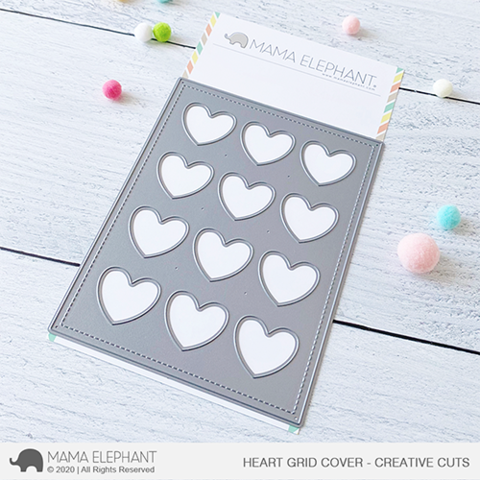 MAMA ELEPHANT: Heart Grid Window | Creative Cuts
