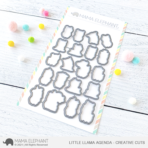 MAMA ELEPHANT: Little Llama Agenda  | Creative Cuts