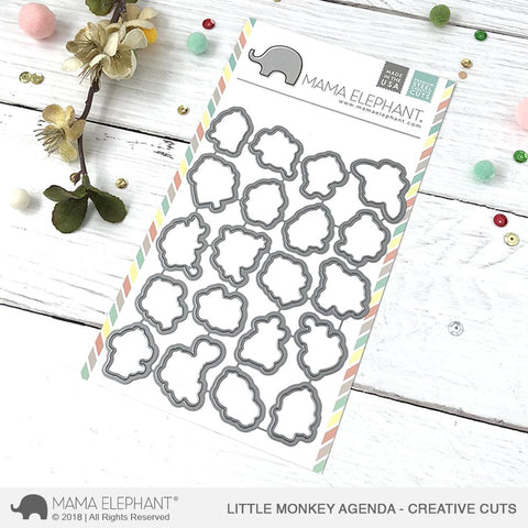 MAMA ELEPHANT: Little Monkey Agenda Creative Cuts