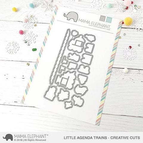MAMA ELEPHANT: Little Agenda Trains Creative Cuts
