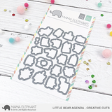 MAMA ELEPHANT: Little Bear Agenda Creative Cuts