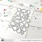 MAMA ELEPHANT: Little Elf Agenda Creative Cuts