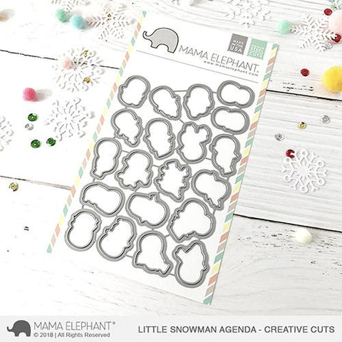 MAMA ELEPHANT: Little Snowman Agenda Creative Cuts