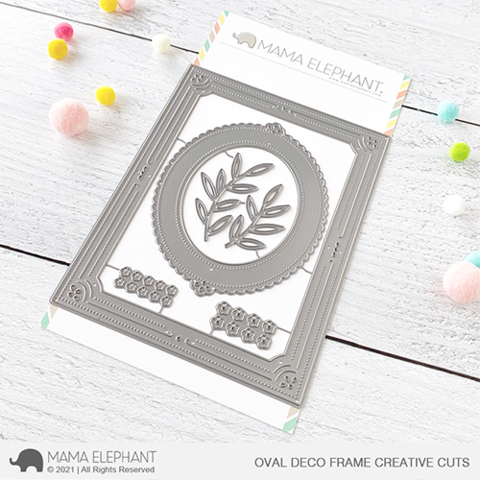 MAMA ELEPHANT: Oval Deco Frame | Creative Cuts