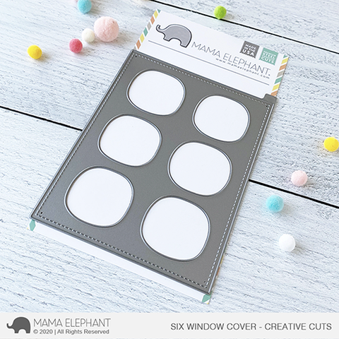 MAMA ELEPHANT: Six Window Cover | Creative Cuts
