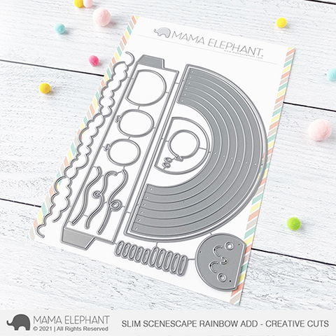 MAMA ELEPHANT: Slim Scenescape Rainbow Add-on | Creative Cuts