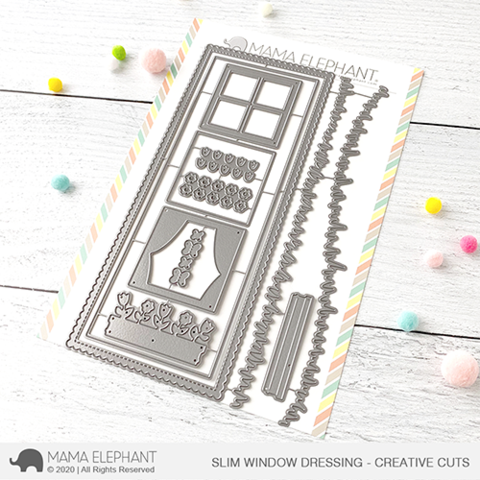 MAMA ELEPHANT: Slim Card Window Dressing | Creative Cuts