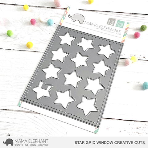 MAMA ELEPHANT: Star Grid Window Creative Cuts