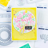 PINK FRESH STUDIO: Floral Print Circle | Layered Stencils